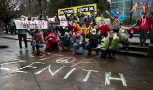 Zenith Protest photo by Rick Rappaport