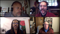 David Walker and Marcus Kwame Anderson talk about their graphic novel The Black Panther Party with S.W. Conser on Words and Pictures on KBOO Radioi